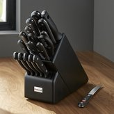 Crate & Barrel Wüsthof ® Gourmet 18-Piece Black Knife Block Set