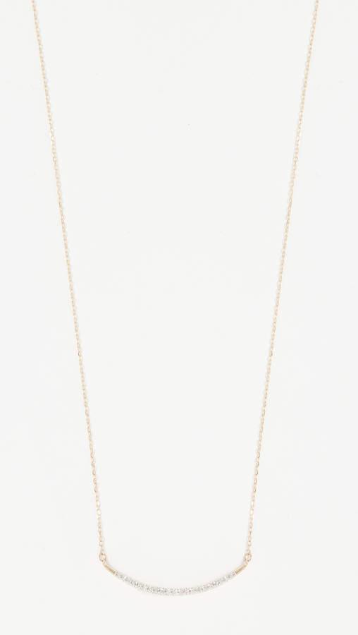 Adina 14k Gold Large Pave Curve Necklace