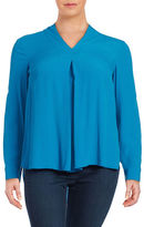 Lord & Taylor Plus V-Neck Blouse