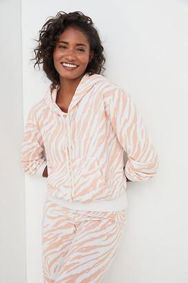 Sundry Erin Zebra-Striped Hoodie By in White Size XS