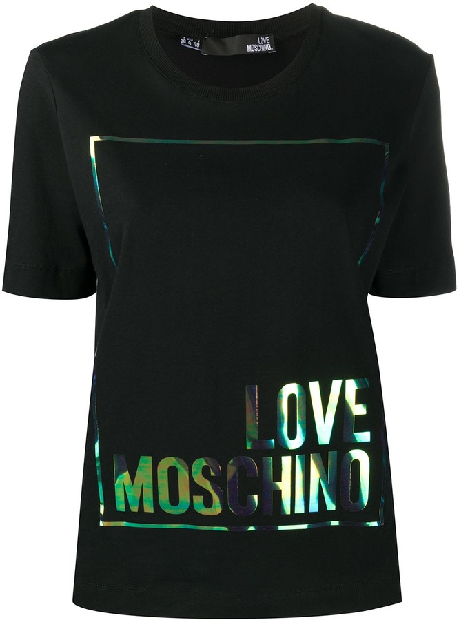 Love Moschino Iridescent logo T-shirt