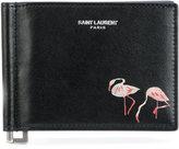 Saint Laurent flamingo wallet