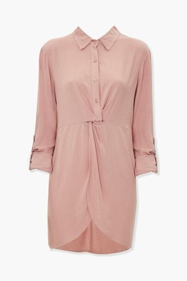 Forever 21 Twist-Front Shirt Dress