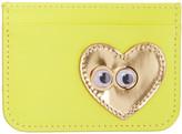 Sophie Hulme Yellow Heart & Eyes Rosebery Card Holder