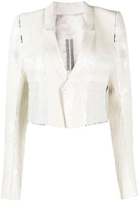 Rick Owens Sequin Tuxedo Jacket