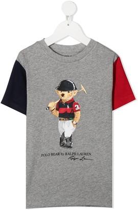 Ralph Lauren Kids Polo Bear colour-block T-shirt