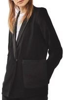 Topshop Women's Satin Pocket Blazer