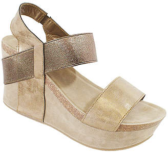 Yoki Women's Sandals bronze - Bronze Hestry Stretch Wedge Sandal - Women