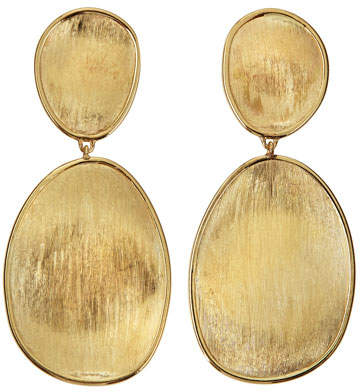 Marco Bicego Lunaria 18k Gold Double-Drop Earrings