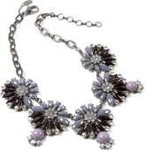 Amrita Singh Gray & Black Crystal Annie Necklace