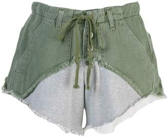 Greg Lauren two tone shorts