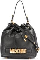 Moschino drawstring logo shoulder bag