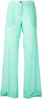 Miu Miu heart print straight trousers