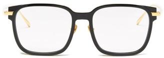 Linda Farrow Franklin Square Acetate Glasses - Black Gold
