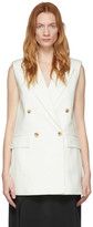 Joseph Off-White Cotton Linen Zappa Vest