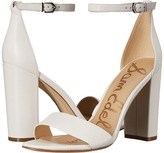 Sam Edelman Yaro Ankle Strap Sandal Heel (Electric Pink Neon Butter Nappa Leather) Women's Dress Sandals