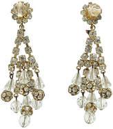 One Kings Lane Vintage Crystal & Rhinestone Chandelier Earrings