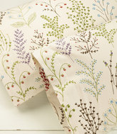 L.L. Bean Ultrasoft Comfort Flannel Pillowcases, Botanical Floral Set of Two