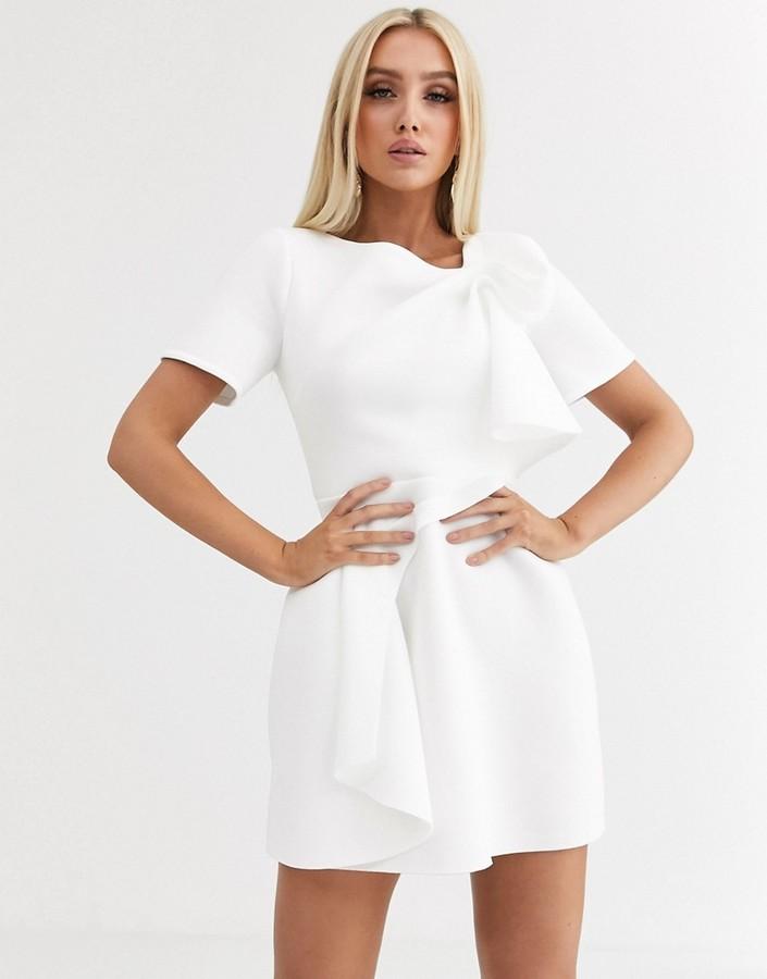 Asos Design DESIGN tshirt tuck detail mini skater dress