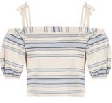 Lemlem Halima Off-the-shoulder Striped Cotton And Linen-blend Top - medium