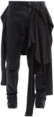 Raf Simons Aw04 T-shirt Layered Slim-leg Jeans - Black