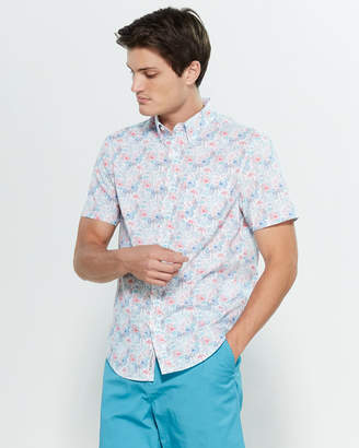 Original Penguin Short Sleeve Flamingo & Pineapple Print Shirt