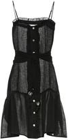 Lisa Marie Fernandez Linen-blend minidress