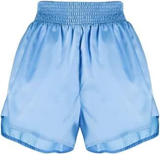 Prada elasticated logo patch shorts