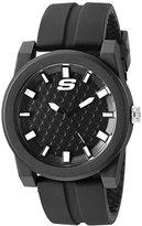 Skechers Men's 'The Carver' Quartz Plastic and Silicone Casual Watch, Color:Black (Model: SR5064)