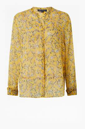 French Connection Savanna Crinkle Long Sleeve Shirt