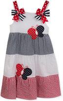 Rare Editions Gingham Seersucker Butterfly Dress, Toddler & Little Girls (2T-6X)