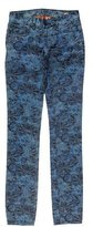 Tory Burch Abstract Print Skinny Jeans w/ Tags