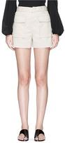 Theory 'Vasilica' belted poplin shorts