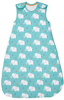 John Lewis Elephant Print Sleep Bag, 1 Tog, Blue