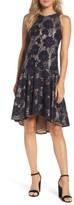 Eliza J Petite Women's Sleeveless Lace Drop Waist High/low Dress