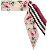 Dolce & Gabbana Printed Silk-twill Scarf - Pink