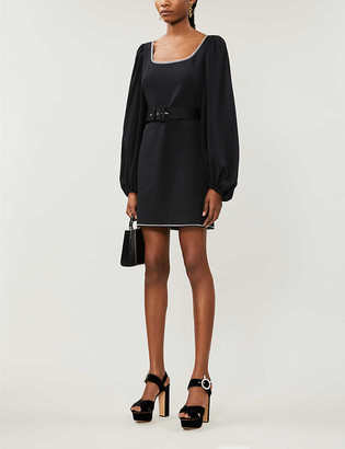 Peter Pilotto Puff-sleeved crepe mini dress