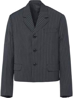Prada striped tailored blazer