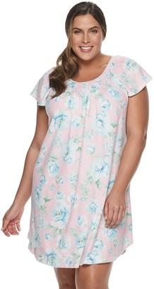 Miss Elaine Plus Size Essentials Cottonessa Short Nightgown