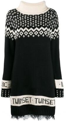 Twin-Set knitted jacquard dress
