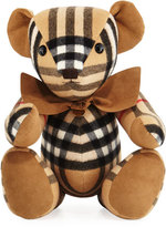 Burberry Thomas Check Cashmere Teddy Bear, Beige