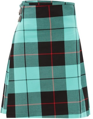 Charles Jeffrey Loverboy Hamish Tartan-checked Cotton Kilt - Green Multi