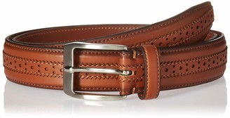 Florsheim Men's Boselli 33MM Dress Casual Leather Belt