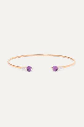 Pomellato 18-karat Rose Gold, Amethyst And Diamond Cuff - one size