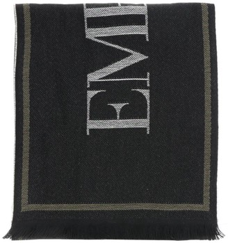 Emporio Armani Scarf Scarf In Jacquard Wool With Logo