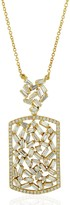 Artisan 18K Solid Yellow Gold Baguette Diamond Necklace Jewelry