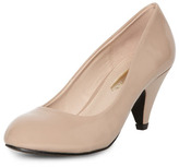 Dorothy Perkins Nude patent mid court