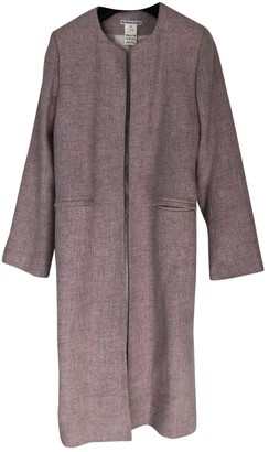 Les Prairies de Paris Pink Wool Coat for Women