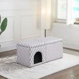 Tucker Rademacher Upholstered Storage Bench Murphy Pet Upholstery: Light Gray