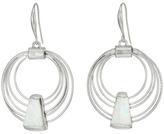 Robert Lee Morris Geometric Shell Multi Row Gypsy Hoop Earrings